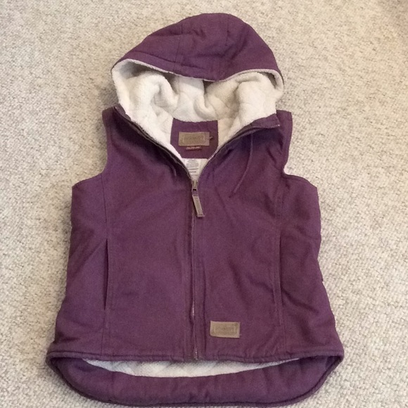 C.E. Schmidt purple fleece lined cotton twill vest
